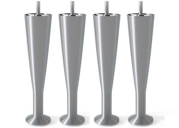 Shampanjalasin muotoinen metallijalka, matta hopeansävy 18 cm SW-132622