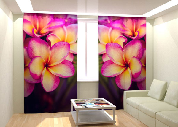 Kuvaverhot PLUMERIA IN THE NIGHT 300x260 cm AÄ-132798