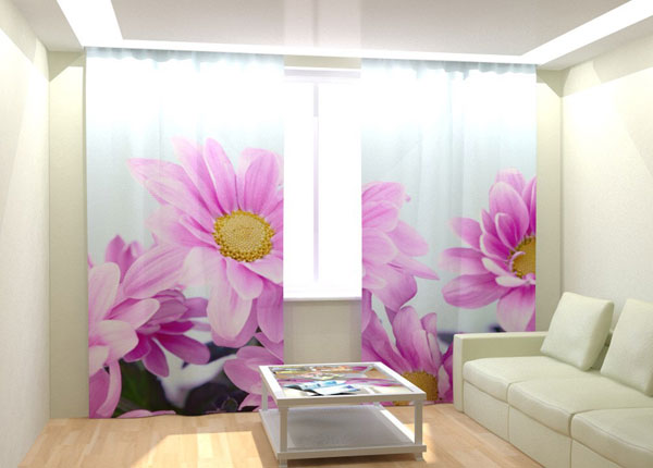 Kuvaverhot PURPLE FLOWERS 300x260 cm AÄ-132990