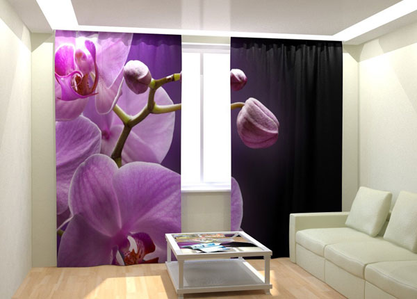 Kuvaverhot ORCHID IN THE NIGHT 300x260 cm AÄ-132997