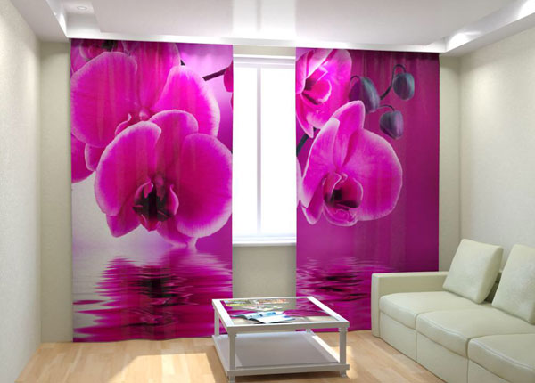 Kuvaverhot PINK ORCHID ON THE WATER 300x260 cm AÄ-133018