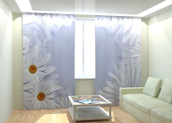 Kuvaverhot WHITE DAISIES 300x260 cm AÄ-133025