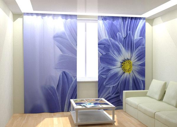 Kuvaverhot BLUE FLOWERS 300x260 cm AÄ-133041