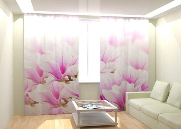 Kuvaverhot FRESH PINK FLOWERS 300x260 cm AÄ-133404