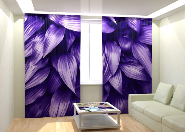 Kuvaverhot PURPLE LEAVES 300x260 cm AÄ-133407