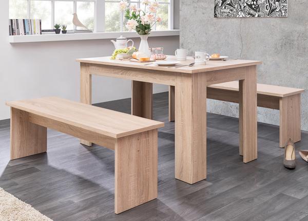 Ruokapöytä 160x90 cm + 2 penkkiä CM-133490