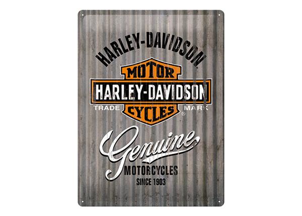 Retro metallijuliste HARLEY-DAVIDSON GENUINE lI 30x40 cm SG-133793