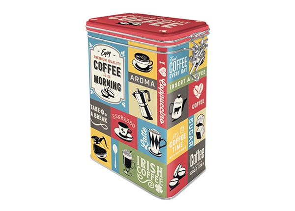 Peltipurkki COFFEE COLLAGE 1,3 L SG-133821