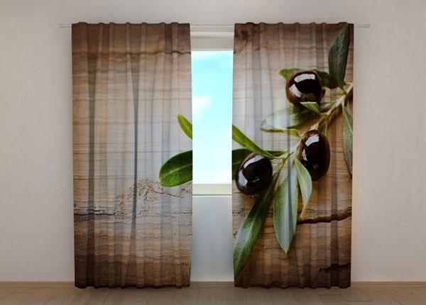 Puolipimentävä verho BLACK OLIVES 240x220 cm ED-134200