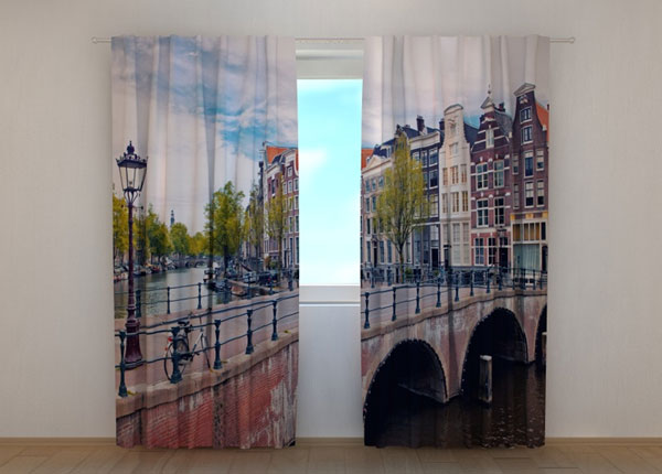 Puolipimentävä verho BRIDGE IN AMSTERDAM 240x220 cm ED-134227