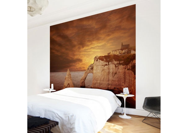 Fleece-kuvatapetti ETRETAT SUNSET CLIFFS