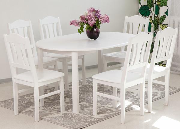 Ruokailuryhmä ADA3 100x100-178 cm ja tuolit PER 6 kpl EC-135329