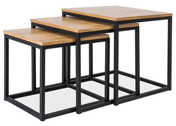 Sohvapöydät TRIO, 3 kpl WS-136325