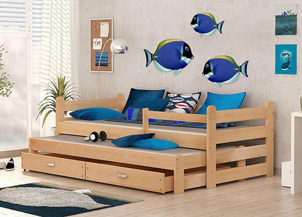 Lasten sänkysarja 2-le 80x195 cm + patjat TF-137584