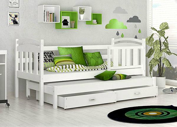 Lasten sänkysarja 2-le 80x184 cm + patjat TF-137594