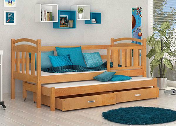 Lasten sänkysarja 2-le 80x184 cm+ patjat TF-137595