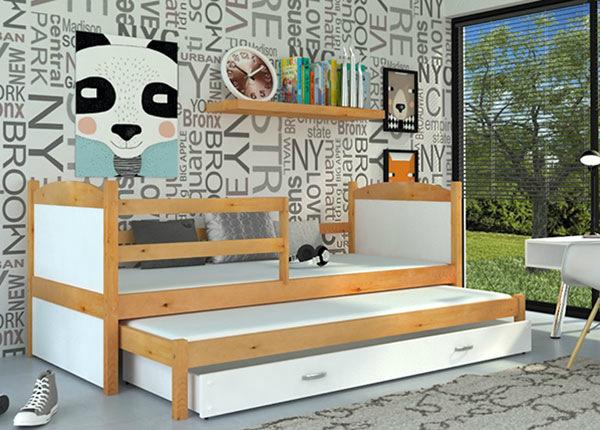 Lasten sänkysarja 2-le 80x184 cm + patjat TF-137647