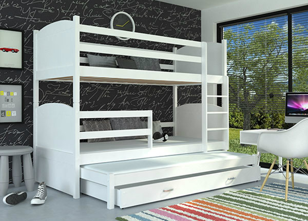 Lasten sänkysarja 3-le 80x184 cm + patjat TF-137659