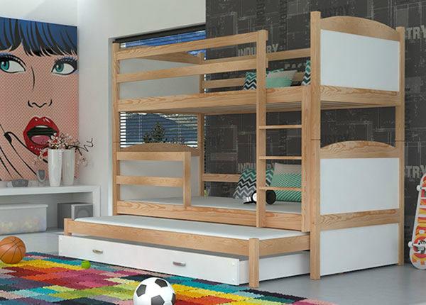 Lasten 3-os sänkysarja 80x184 cm + patjat TF-137661