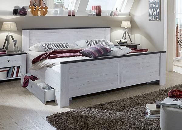 Sänky CHATEAU 180x200 cm + 2 vuodevaatelaatikkoa SM-137965