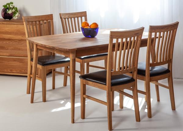 Tammi ruokapöytä SCAN 140x90 cm + 4 tuolia RONNY EC-138003