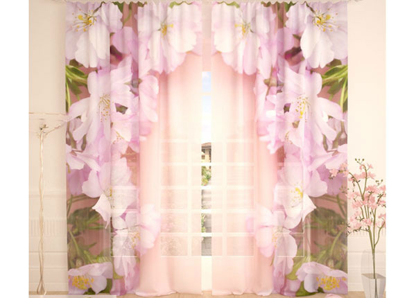Tylliverhot PINK CHERRY FLOWERS 290x260 cm AÄ-138248