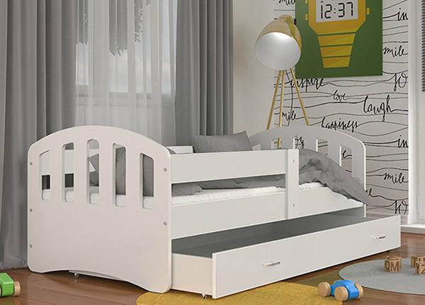 Lastensänky vuodevaatelaatikolla 80x160 cm + patja