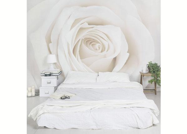 Fleece-kuvatapetti PRETTY WHITE ROSE ED-138508