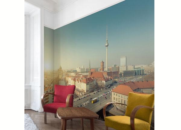 Fleece-kuvatapetti BERLIN IN THE MORNING