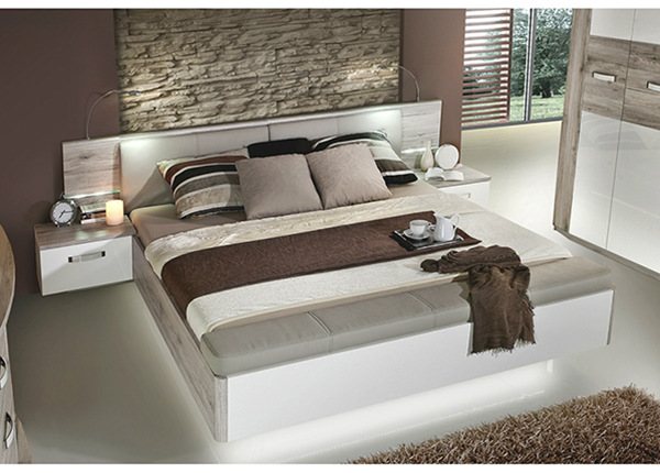Sänky 160x200 cm + 2 yöpöytää TF-138710