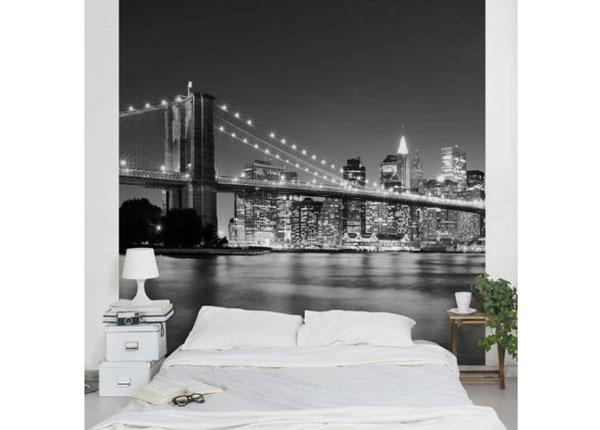 Fleece-kuvatapetti NIGHTTIME MANHATTAN BRIDGE II ED-139356