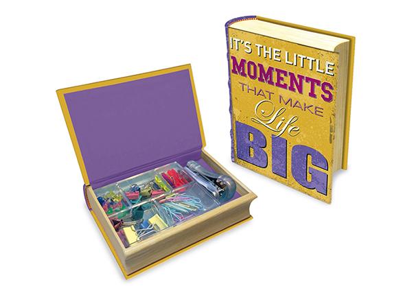 Kirjan muotoinen laatikko MAKU HAPPU QUOTES M1-139412