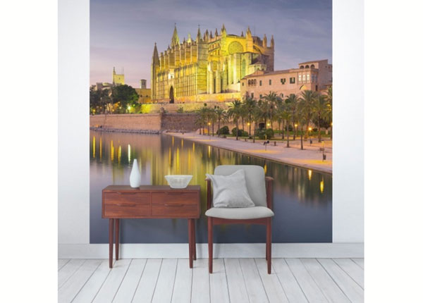 Fleece-kuvatapetti CATEDRAL DE MALLORCA WATE REFLECTION ED-139418