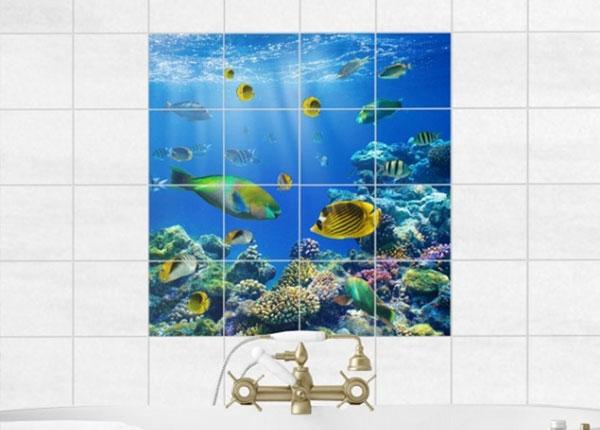 Tarrat seinälaatoille UNDERWATER LIGHTS, 120x120 cm