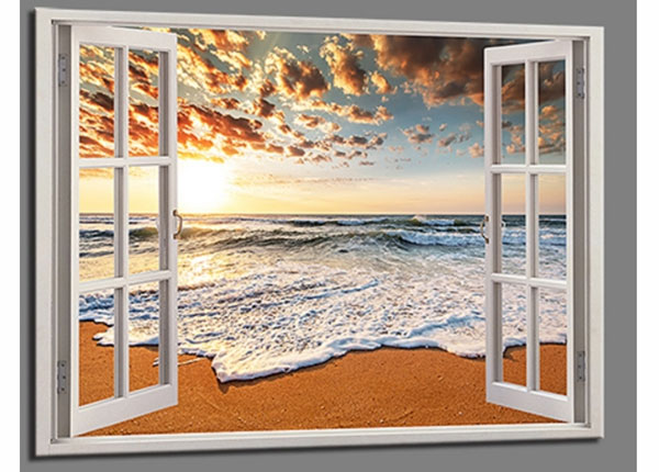Seinätaulu BEACH VIEW WINDOW, 120x80 cm ED-139721