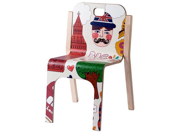 Lasten tuoli TOMMY 3 LONDON h 57/35 cm TO-139902