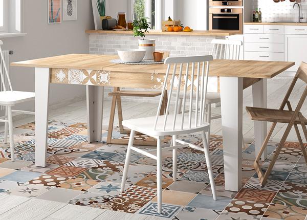 Jatkettava ruokapöytä CHLOE 160/200x90 cm
