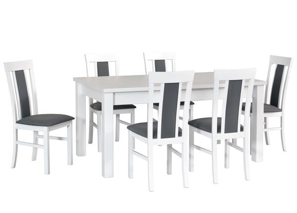 Jatkettava ruokapöytä ja 6 tuolia CM-140515