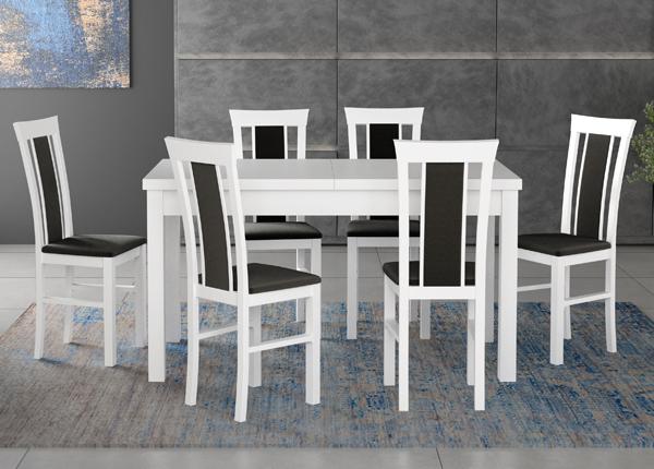 Jatkettava ruokapöytä ja 6 tuolia CM-140521