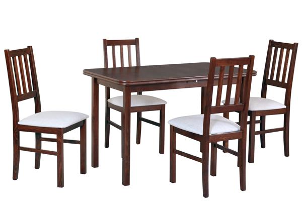 Jatkettava ruokapöytä ja 4 tuolia CM-140525