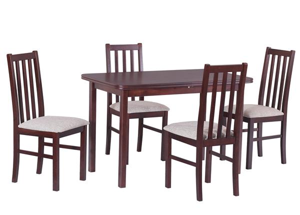 Jatkettava ruokapöytä 160-200x90 cm+ 4 tuolia CM-140591