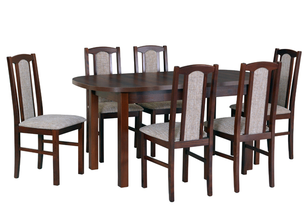Jatkettava ruokapöytä ja 6 tuolia CM-140994