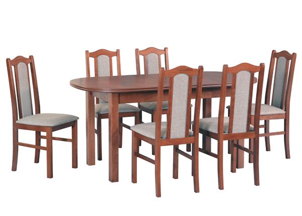 Jatkettava ruokapöytä ja 6 tuolia CM-141028
