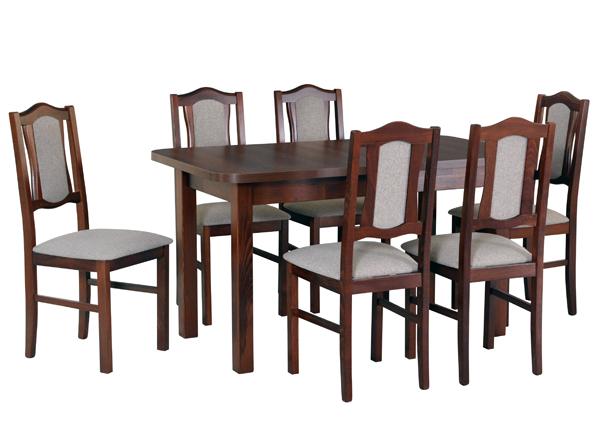 Jatkettava ruokapöytä ja 6 tuolia CM-141046