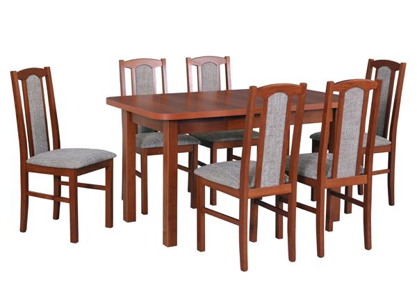 Jatkettava ruokapöytä ja 6 tuolia CM-141058
