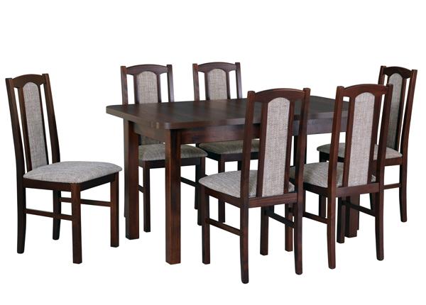 Jatkettava ruokapöytä ja 6 tuolia CM-141068