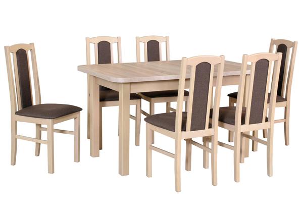 Jatkettava ruokapöytä ja 6 tuolia CM-141091