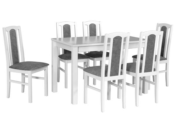 Jatkettava ruokapöytä ja 6 tuolia CM-141107