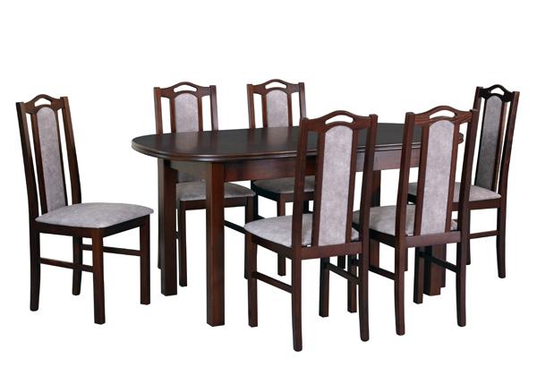 Jatkettava ruokapöytä ja 6 tuolia CM-141110