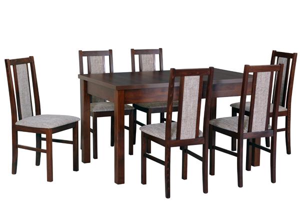 Jatkettava ruokapöytä ja 6 tuolia CM-141114